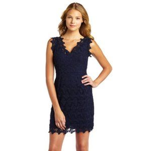 Lilly Pulitzer Reeve Papillon Lace Dress Blue 10
